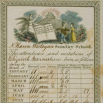 Sunday school attendance record of Elizabeth Barnet, New Haven, 1827