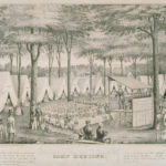 Camp meeting, ca. 1850