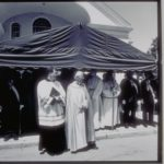 Group of clergy at Blessing of the Fleet, Stonington, 1995