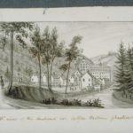 Cotton Hollow factories, Glastonbury, 1836 by John Warner Barber