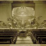 Easter decorations, African Methodist Episcopal Zion Church, Hartford, 1890