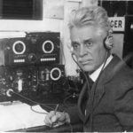 Hiram Percy Maxim at the radio, ca. 1925