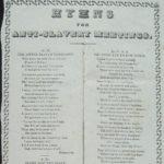 Hymns for anti-slavery meetings, 1840s?