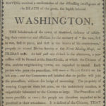 Service in memory of George Washington, Hartford, 1799