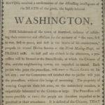 Service in memory of George Washington, Hartford, 1799