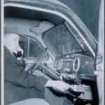 Mobile radio telephone in use, 1947