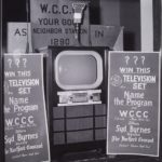 Television set in store window, Hartford, ca. 1950