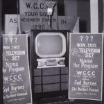 Television set in store window, Hartford, ca. 1950